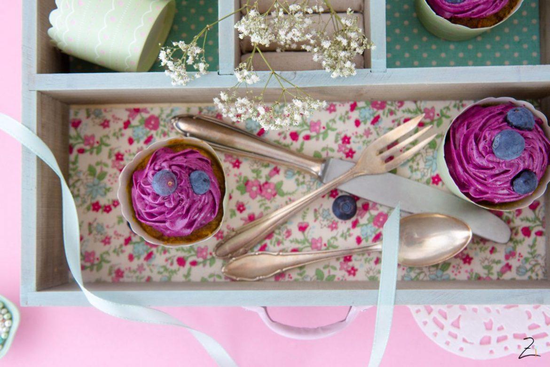 Vanille Cupcakes mit Blaubeertopping
