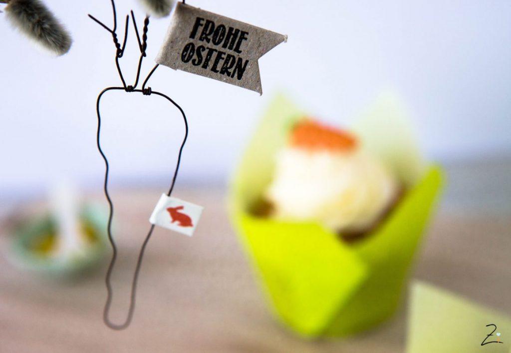 Rübli Cupcakes mit Frischkäsetopping