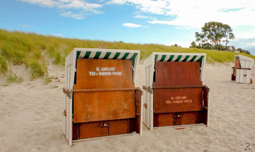 Ostsee Urlaub, Strandkörbe in Zingst