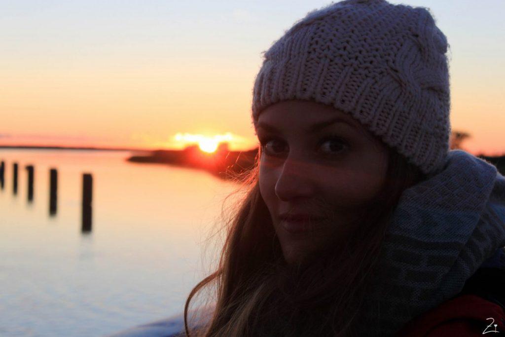 Ostsee Urlaub, Sonnenuntergang Saaler Bodden