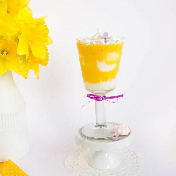 Erfrischendes Mango Dessert mit Joghurt
