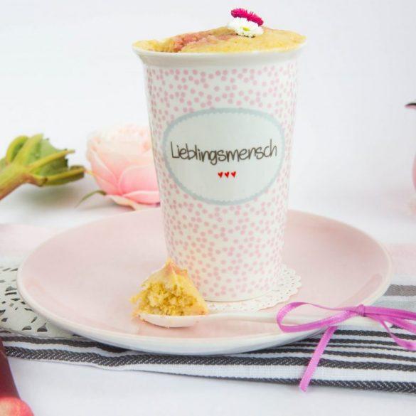 Rhabarber Mug Cake