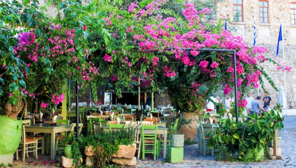 Ein typisches Restaurant in Chania