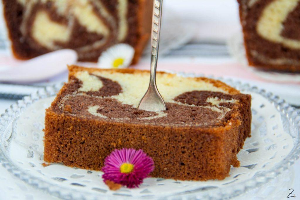 Rezept für saftigen Marmorkuchen