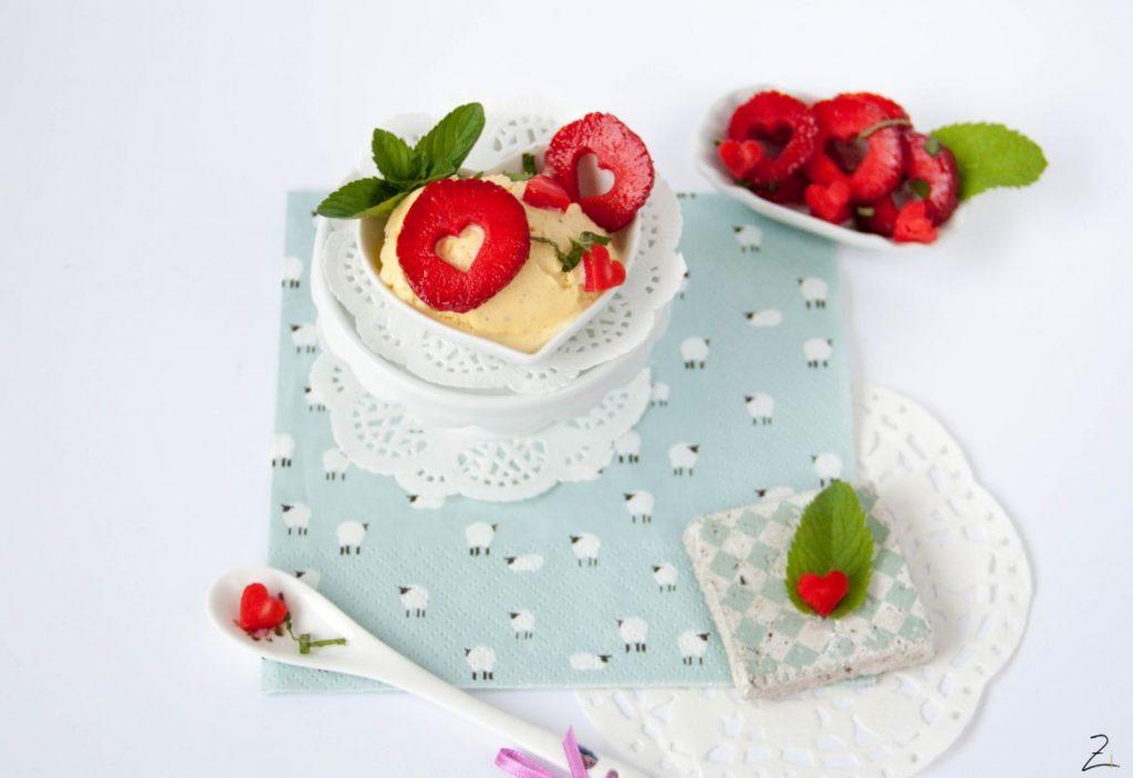 Erdbeersalat mit Minze