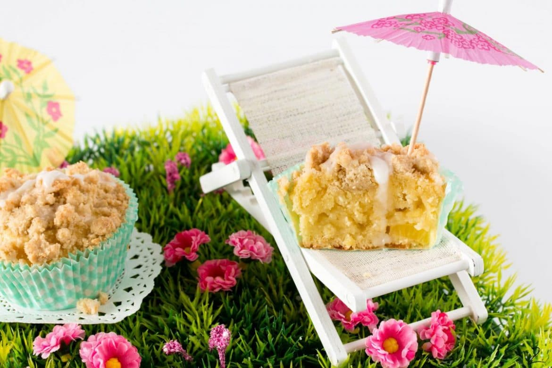 Pina Colada Muffin mit Streuseln