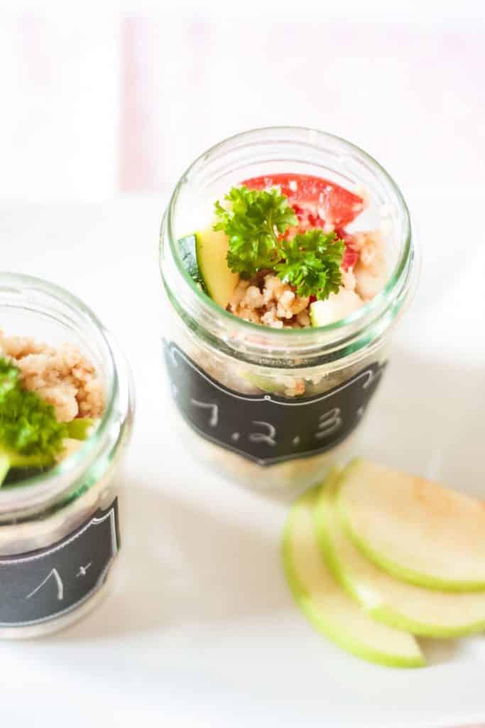 Veganer Couscous Salat im Glas