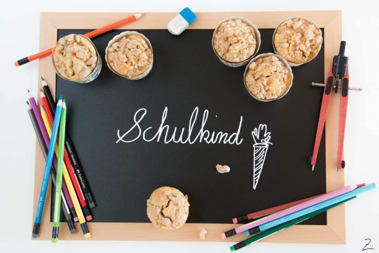 Apfel Zimt Muffins mit Streuseln zum Schulanfang