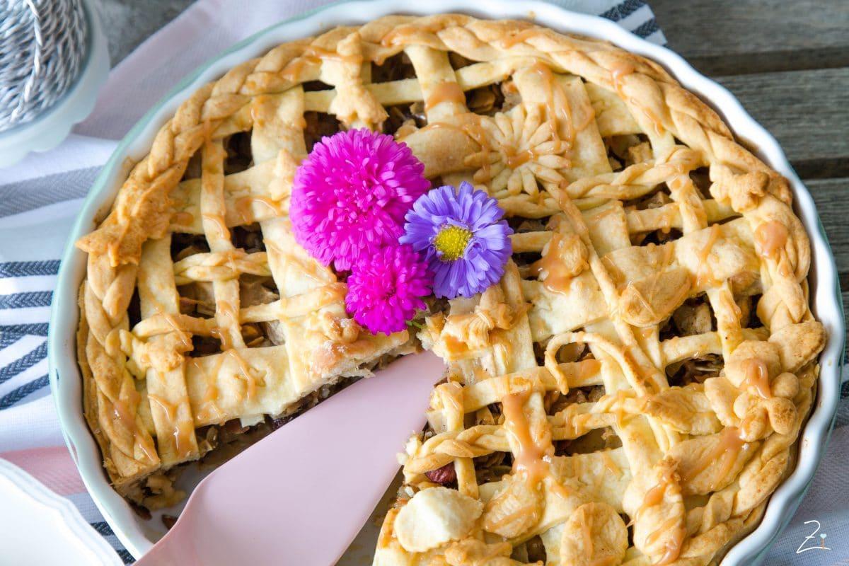 Es wird herbstlich: Apple Pie mit Mürbteigwiese -