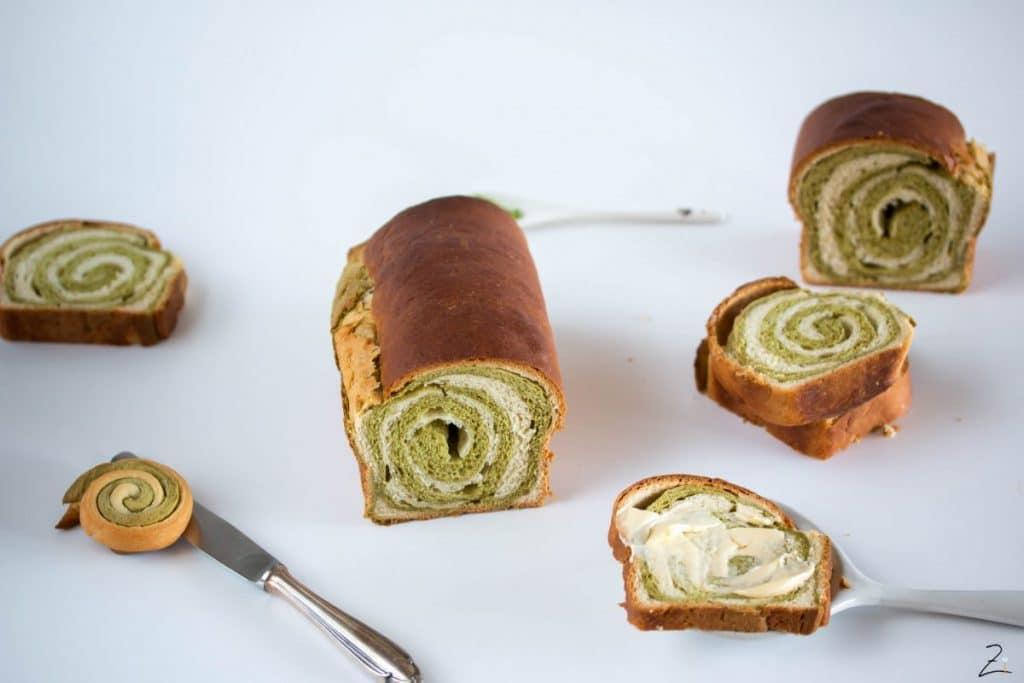 Süßes Matcha Brot