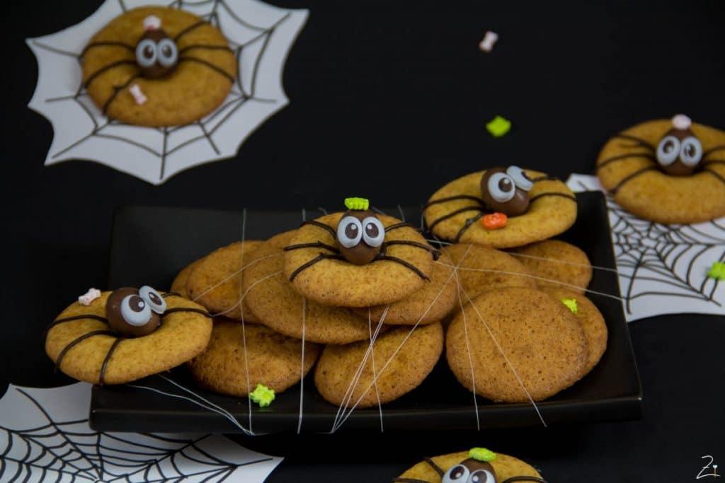 spinnen alarm spider cookies f r halloween. Black Bedroom Furniture Sets. Home Design Ideas