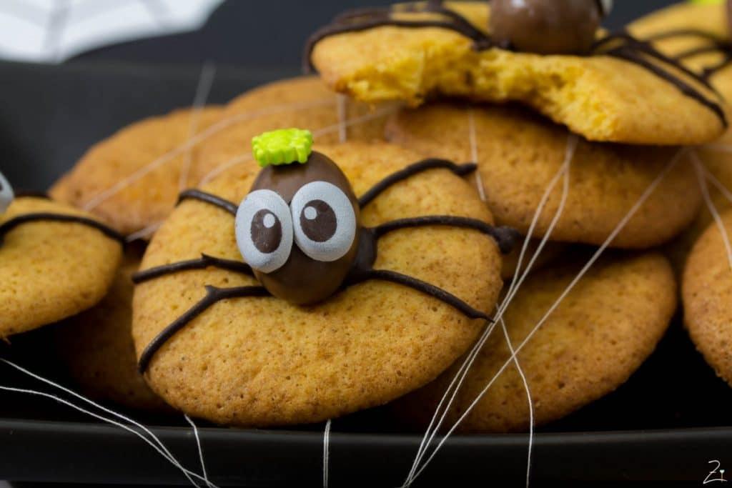 Kürbis Plätzchen_Spider Cookies