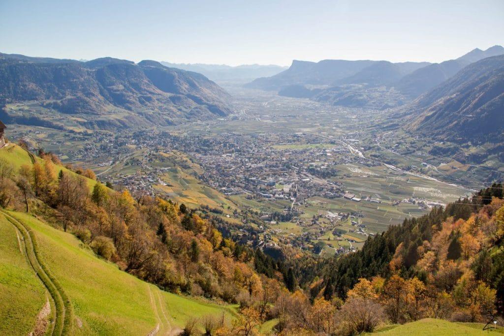 Panorama Blick vom Gasthaus Talbauer, Südtirol