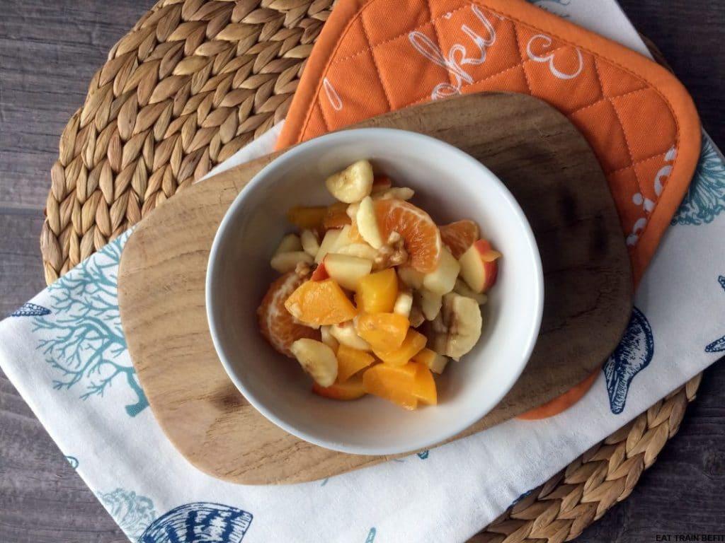 Grießauflauf mit Obstsalat