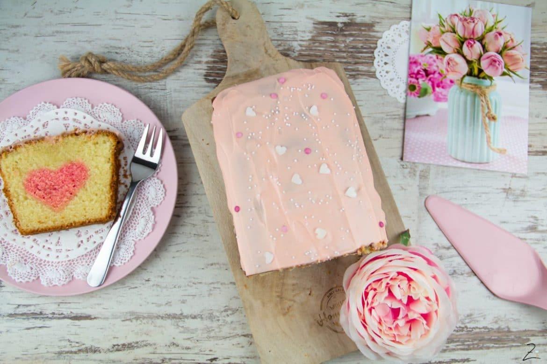 Rezept für Kuchen mit Herz