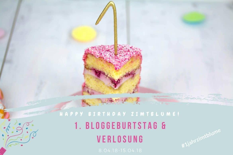 1. Bloggeburtstag - Verlosung 1 Jahr Zimtblume