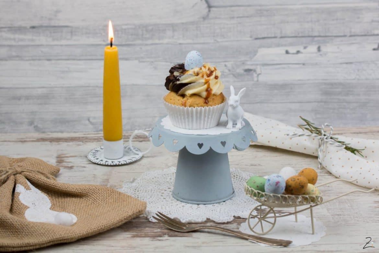 Erdnuss Cupcakes mit Schoko-Erdnusbutter Topping