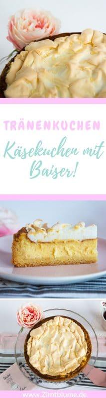 Ein Rezept für den Klassiker Käsekuchen mit Baiser. Wie macht man eigentlich das Puddingpulver für den Kuchen selbst? Ganz einfach!