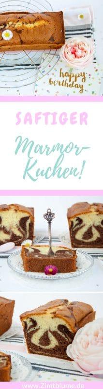 Ein fantastisches Marmorkuchen Rezept mit absolutem Wow-Effekt. Richtig schön saftig, genau wie ein Marmorkuchen schmecken soll!