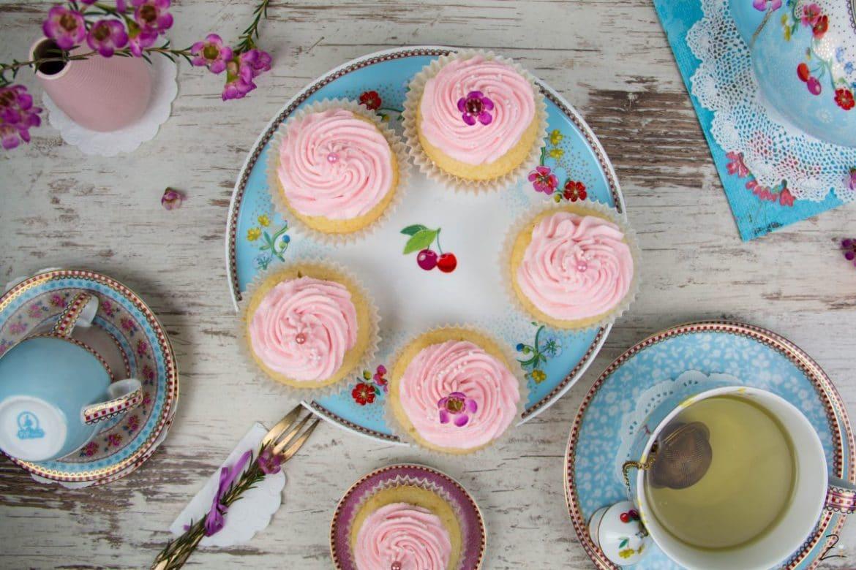 Rosa Mandel Cupcakes - Frühlingsbeginn mit Pip Studio