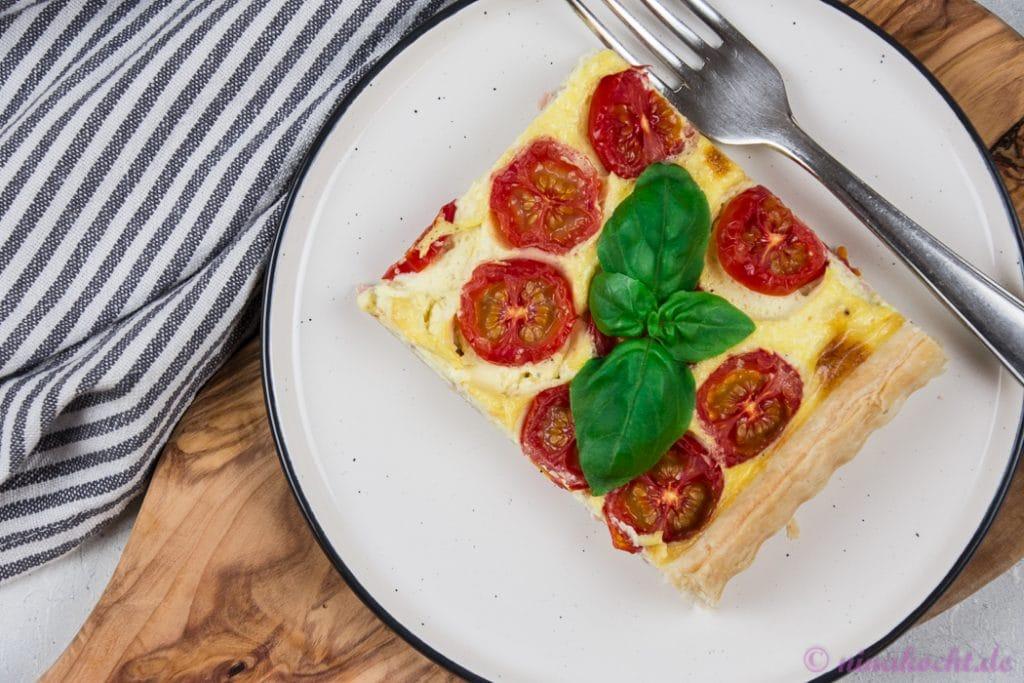 Schnelle Tomaten Quiche - 1. Bloggeburtstag Zimtblume