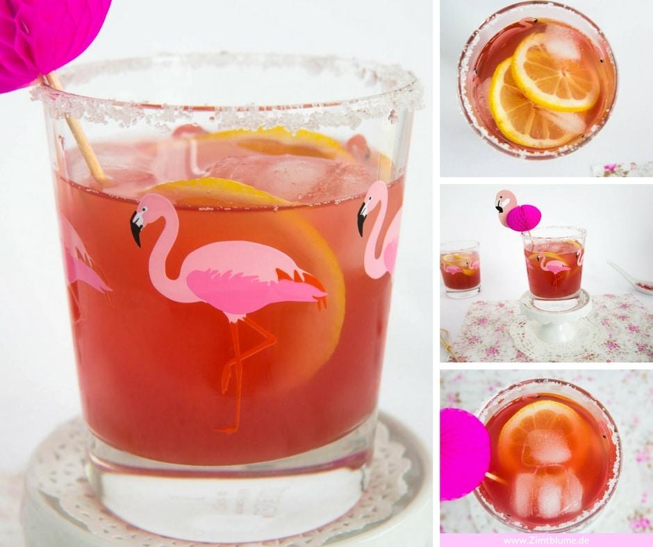 sommerlicher flamingo cocktail ohne alkohol. Black Bedroom Furniture Sets. Home Design Ideas