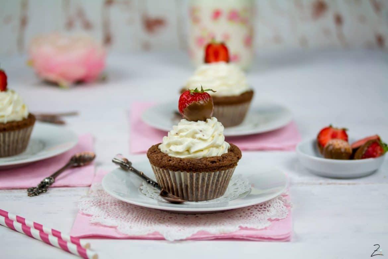 Rezept für Erdbeer Nugat Cupcakes
