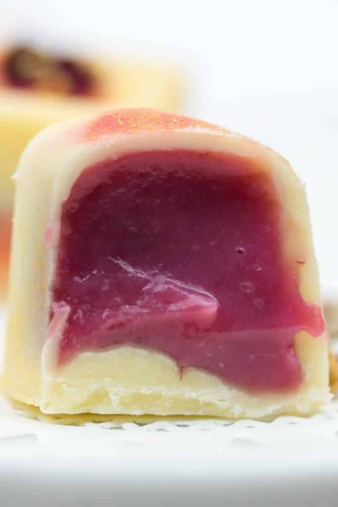 Rezept für Himbeer Pralinen