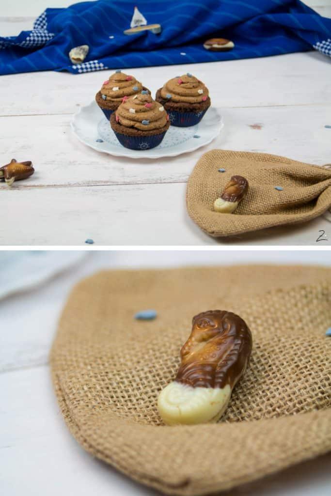 Nougat Cupcakes mit Nougat Sahne
