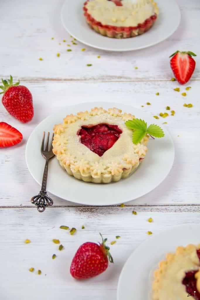 Rezept für fruchtige Erdbeer Tartelettes