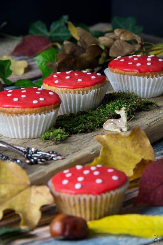 Rezept für Fliegenpilz Muffins © Zimtblume