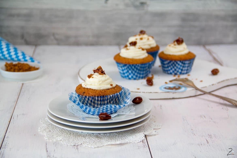 Oktoberfest Cupcakes mit gebrannten Mandeln