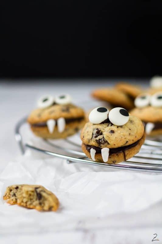 Einfaches Halloween Rezept Chocolate Chip Vampire