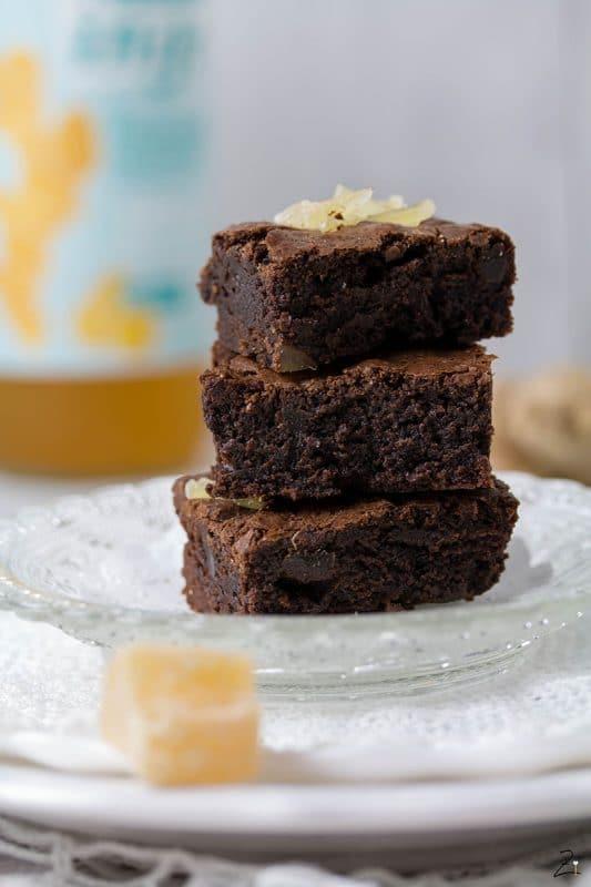 Rezept für Ingwer Brownies mit Inge Sirup © Zimtblume