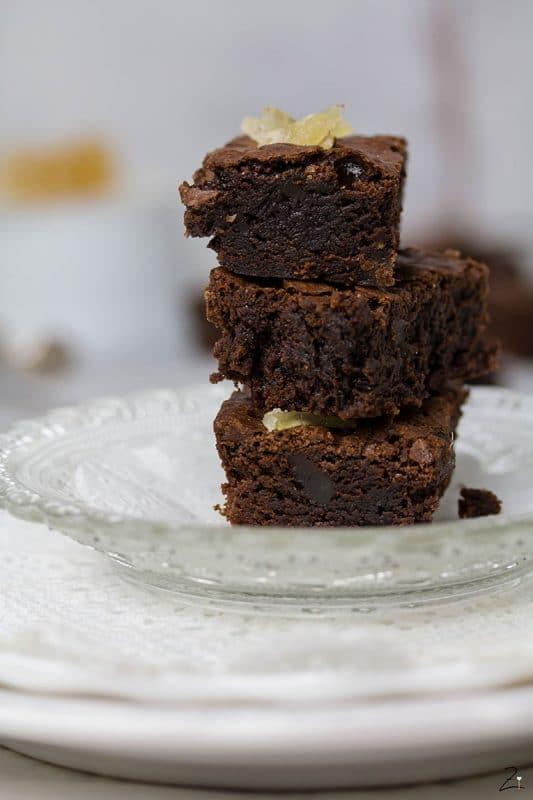 Rezept für Ingwer Brownies © Zimtblume