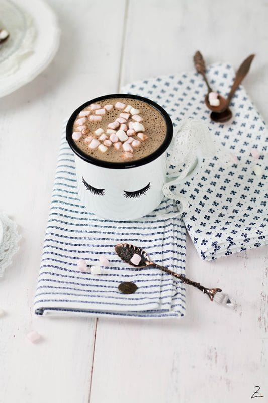 Rezept für selbst gemachte heisse Schokolade