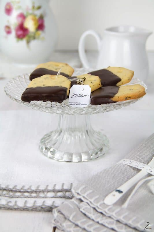 Teebeutel Kekse mit Earl Grey Tee Copyright Zimtblume