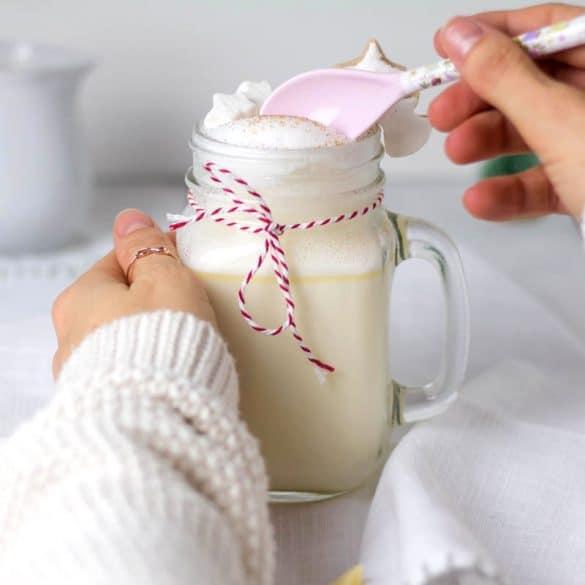 Rezept für heiße weiße Schokolade