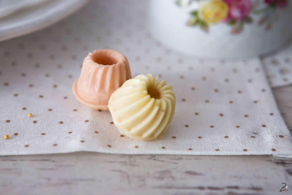 Mini Zitronen Gugl mit weisser Schokolade