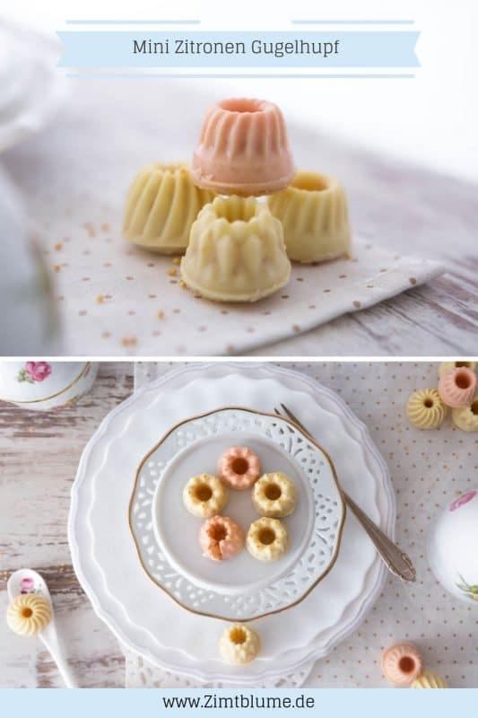 Mini Zitronen Gugel mit weisser Schokolade