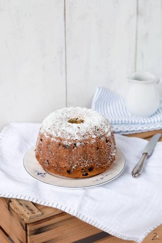Rezept für Napfkuchen mit Rosinen