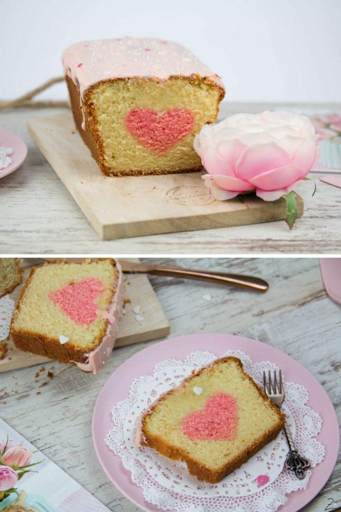 Valentinstag - Kuchen mit Herz