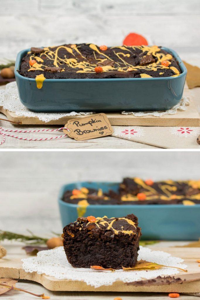 Rezept für saftige Kürbis Brownies