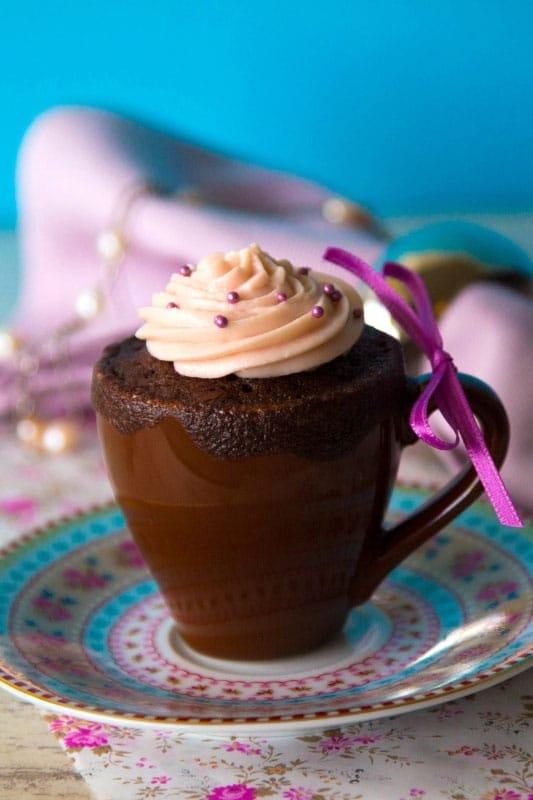 Rezept für Rotwein Schoko Mug Cake