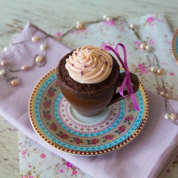 Rotwein Schoko Mug Cake
