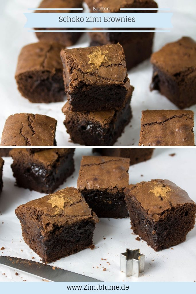 Schoko Zimt Brownies