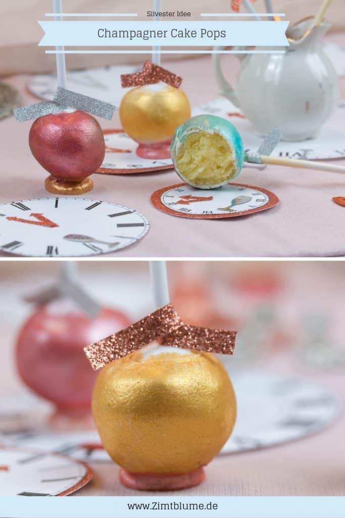 Silvester Idee: Champagner Cake Pops