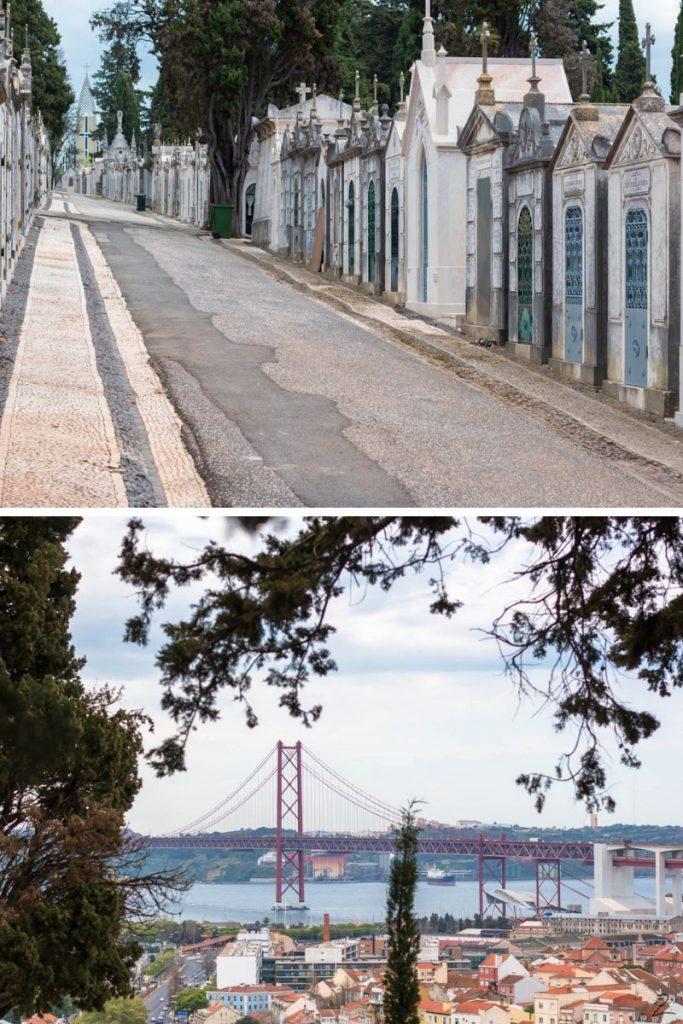 Friedhof Cemitério dos Prazeres in Lissabon