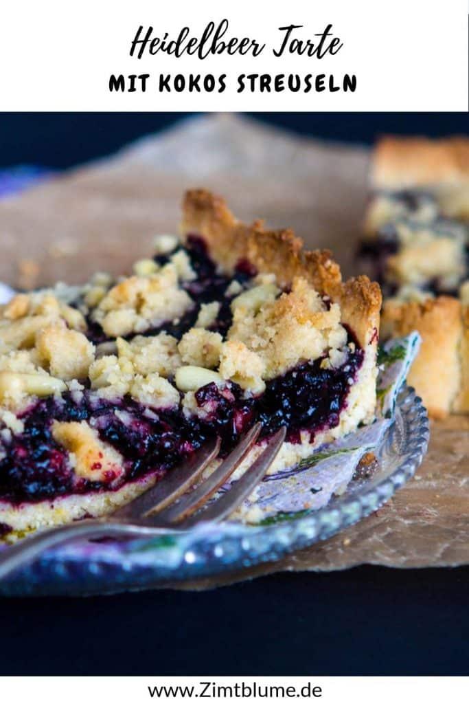 Blueberry Pie mit Kokos Streuseln