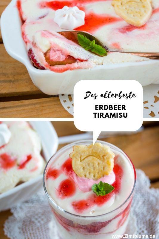 Rezept für Erbeer Tiramisu - Fruchtiges Dessert